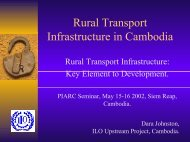 Rural Transport Infrastructure in Cambodia