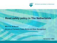 Road safety policy in The Netherlands