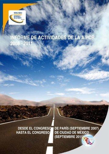 Informe de actividades 2008-2011 - Association mondiale de la Route