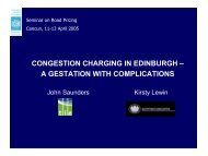CONGESTION CHARGING IN EDINBURGH – A GESTATION WITH ...