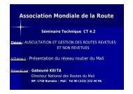 Présentation du Mali - Association mondiale de la Route
