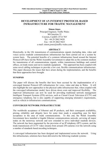 development of an internet protocol based infrastructure for