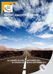 Rapport d'activité 2008-2011 - Association mondiale de la Route