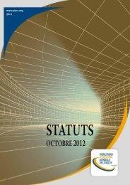 Statuts (texte intégral) - Association mondiale de la Route