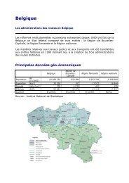 Les administrations des routes en Belgique - Association mondiale ...