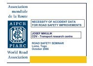 necessity of accident data for road safety improvements