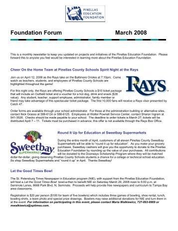 Foundation Forum March 2008 - Pinellas Education Foundation