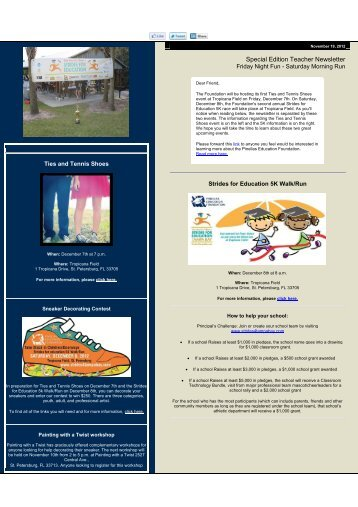 Special Edition Teacher Newsletter - Pinellas Education Foundation