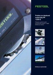 Frézka na deskové materiály PF 1200 E - PK Festool