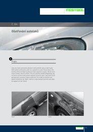 Ošetřování autolaků - PK Festool