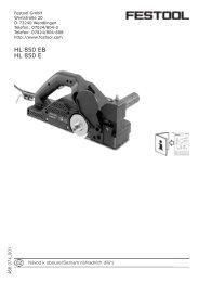 HL 850 EB HL 850 E - PK Festool
