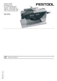 SE-EHL - PK Festool