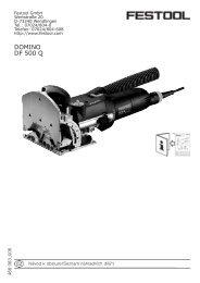 DOMINO DF 500 Q - PK Festool