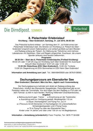 8. Pielachtaler Erlebnislauf Dschungelparcours am Ebersdorfer See