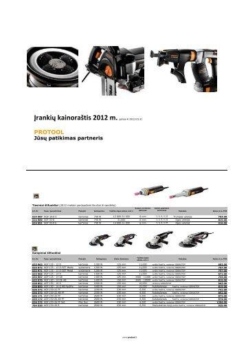 Protool kainininkas 2012 - Reimpex