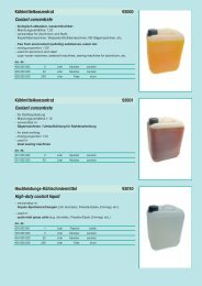 Kühlmittelkonzentrat 93000 Coolant concentrate ... - Reimpex
