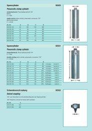 Spannzylinder 95500 Pneumatic clamp cylinder ... - Reimpex
