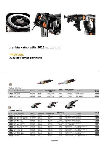 Įrankių kainoraštis 2011 m. - Reimpex