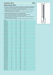 Einzahnfräser HSS-E 91000 Single flute cutter HSS-E - Reimpex