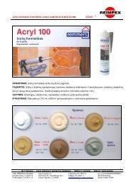 Siūlių hermetikas Acryl 100 aprašymas - Reimpex