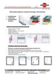 Stiklo klijavimas varčioje DIRECTGLASING - Reimpex