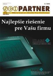 Odborný časopis pre zákazníkov firmy Schachermayer 5 / 2003 ISO ...