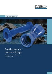 Ductile cast iron pressure fittings