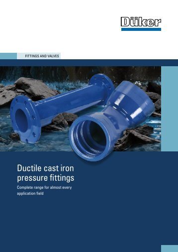 C mechanical joint ductile iron fittings sigma