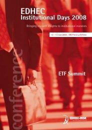 Institutional Days 2008 - EDHEC-Risk