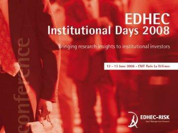 Scanning the European Institutional Investment Scene - EDHEC-Risk