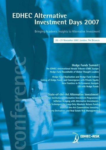 EDHEC Alternative Investment Days 2007 - EDHEC-Risk