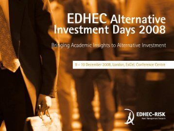Performance Measurement for Hedge Funds: New ... - EDHEC-Risk