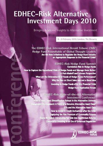 EDHEC-Risk Alternative Investment Days 2010