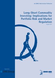 Long-Short Commodity Investing: Implications for ... - EDHEC-Risk