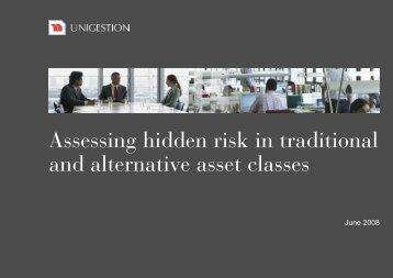 Assessing hidden risk in traditional and alternative ... - EDHEC-Risk
