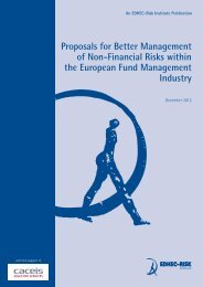 Proposals for Better Management of Non-Financial Risks within the ...