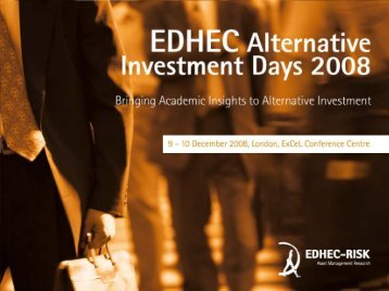 New Frontiers in Alternative Investment - EDHEC-Risk