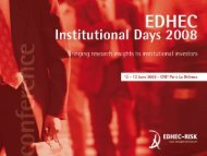 1. L'immobilier comme classe d'allocation - EDHEC-Risk