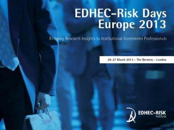 Choose your Smart Beta - EDHEC-Risk