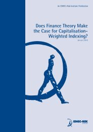 Does Finance Theory Make the Case for Capitalisation - EDHEC-Risk