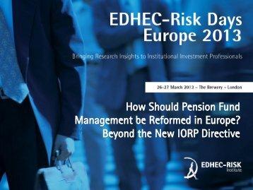 How Should Pension Fund Management be ... - EDHEC-Risk