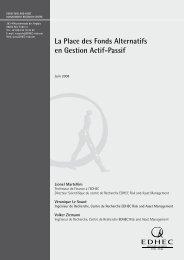 La Place des Fonds Alternatifs en Gestion Actif-Passif - EDHEC-Risk