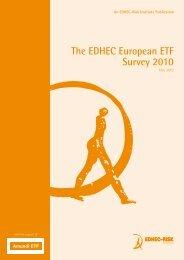 The EDHEC European ETF Survey 2010 - Faculty and Research ...