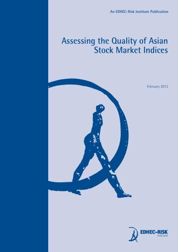 Assessing the Quality of Asian Stock Market Indices - Corps ...
