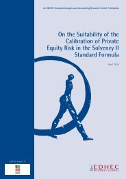 On the Suitability of the Calibration of Private Equity ... - EDHEC-Risk