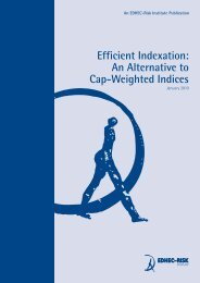 Efficient Indexation: An Alternative to Cap-Weighted ... - EDHEC-Risk