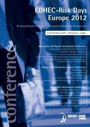 27-28-29 March, 2012 - EDHEC-Risk