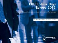 Outline I Sovereign Risk in Global Equity Portfolios - EDHEC-Risk