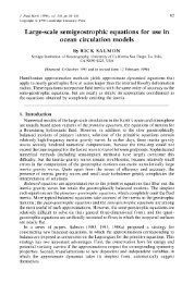 Large-scale semigeostrophic equations for use in ocean circulation ...