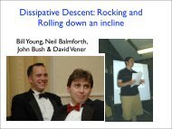 Dissipative Descent: Rocking and Rolling down an incline